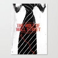 wolf of wall street Canvas Prints featuring The Wolf of Wall Street by Dan K Norris