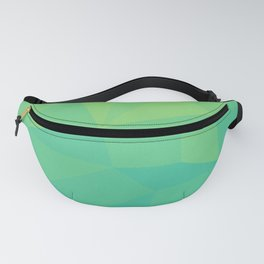 Abstract Geometric Gradient Pattern between Soft Green and Strong Cyan Fanny Pack
