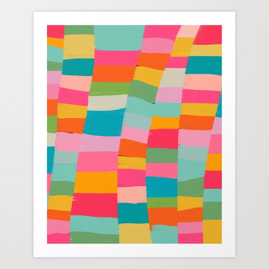 colorful patchwork Art Print