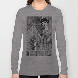 Girl on the top of her house. Long Sleeve T-shirt