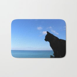 Cat by the sea Bath Mat