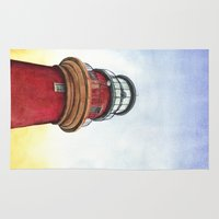 lighthouse Area & Throw Rugs featuring Lighthouse by Jackie Sullivan