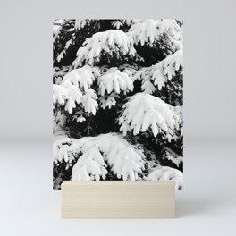 Snow Covered Fir Tree Mini Art Print