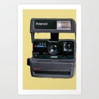 polaroid Art Prints featuring Polaroid  by Dora Birgis