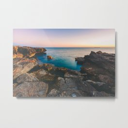 Rock beach paradise Metal Print