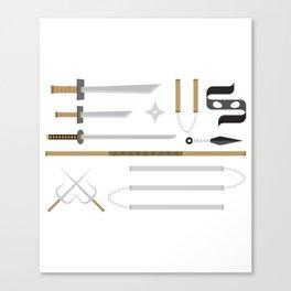Ninja Weapons Canvas Print