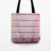 finland Tote Bags featuring Porvoo I- Finland by Cynthia del Rio
