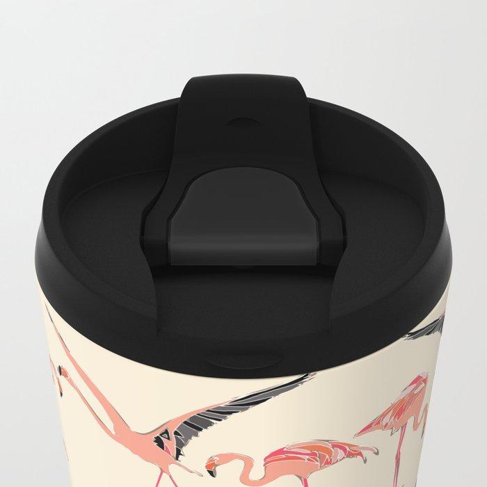 vanilla flamingos Metal Travel Mug