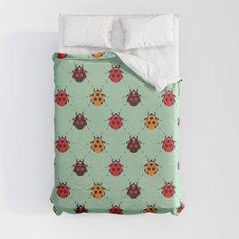 Lady Bug Green Duvet Cover