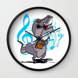 T-Rex on the Ukulele Wall Clock
