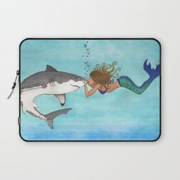 The Shark and the Mermaid Laptop Sleeve