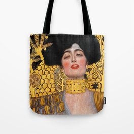 "Judith and the Head of Holofernes Gustav Klimt "" Judith 1 "" Tote Bag"