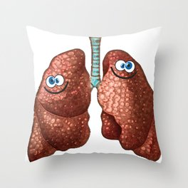 Happy Lungs Throw Pillow