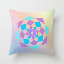 Mandal color wheel Throw Pillow