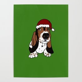 A Basset Full of Christmas Poster