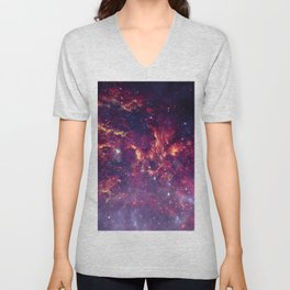 Star Field in Deep Space Unisex V-Neck