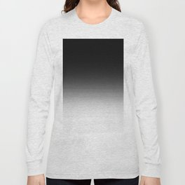 Black & White Ombre Gradient Long Sleeve T-shirt