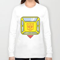 transformers Long Sleeve T-shirts featuring Transformers - Bumblebee by CaptainLaserBeam