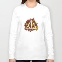 deathly hallows Long Sleeve T-shirts featuring The Deathly Hallows (Gryffindor) by FictionTea