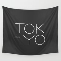 tokyo Wall Tapestries featuring Tokyo. by Dean Yorimitsu