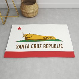 Santa Cruz Republic Banana Slug Flag Rug