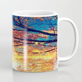 AutuMN Golden Leaves Teal Sky Coffee Mug