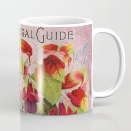 Vintage Flowers Advertisement Collage Coffee Mug
