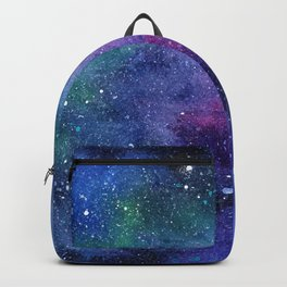 Colorful Galaxy Space Watercolor Backpack