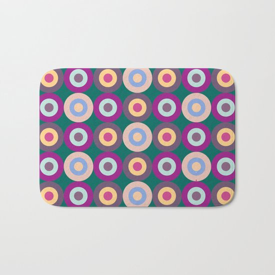 Seamless Colorful Circle Pattern Bath Mat