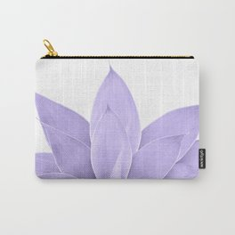 Ultra Violet Agave on White #1 #tropical #decor #art #society6 Carry-All Pouch