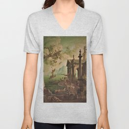 Ulysses Farewell to Penelope Seaport Landscape by Rex Whistler Unisex V-Neck
