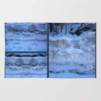 geology Area & Throw Rugs featuring The Geology of Snow by World Raven