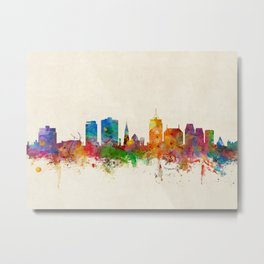 Christchurch New Zealand Skyline Metal Print