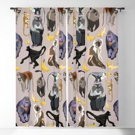 Monkeys Party Blackout Curtain