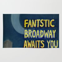 broadway Area & Throw Rugs featuring Fantastic Broadway Awaits You by Aram Kim