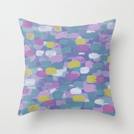 Confetti Cake - Muted Tones Throw Pillow