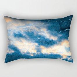 Celestial Grunge Clouds Rectangular Pillow