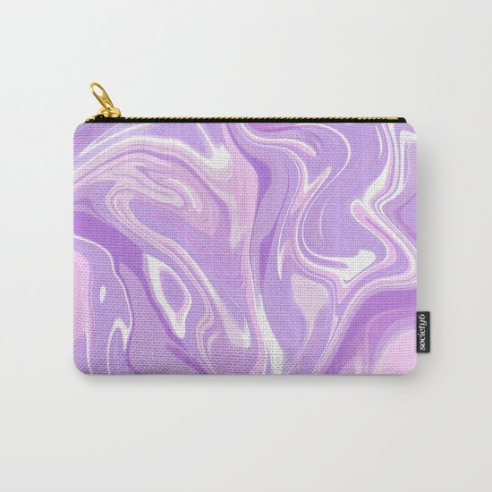 Blend of Pink Purple Velvet Violet Color Marble Carry-All Pouch
