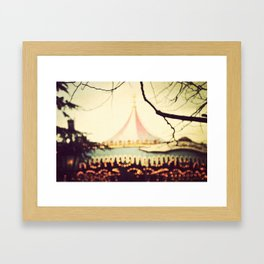 Carousel Goes Round and Round Framed Art Print