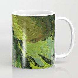 green oil paint camouflage Coffee Mug