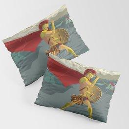 epic spartan soldier in the rain Pillow Sham