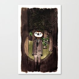 Slender Sloth Canvas Print