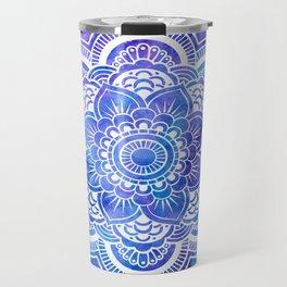 Mandala Blue Lavender Galaxy Travel Mug