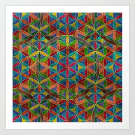 The Flower of Life (Sacred Geometry) 4 Art Print