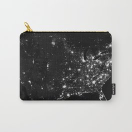 The Lights of the USA (Black and White) Carry-All Pouch