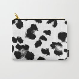 Black & White Leopard Print Carry-All Pouch