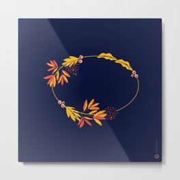 Autumn Wreath Metal Print
