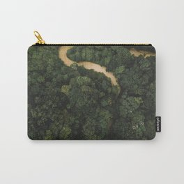 From Above Overview Of Dense Green Forest Carry-All Pouch