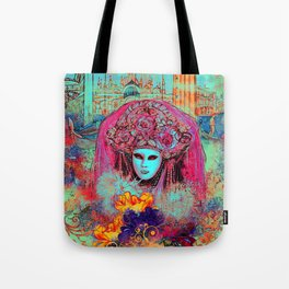 Turquoise Venice Tote Bag