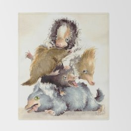 Niffler babies Throw Blanket
